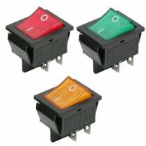 Billenő kapcsoló 16A-250V OFF-ON világítással