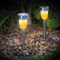 LED-es szolár lámpa - lángeffekt - műanyag - 360 x 55 mm