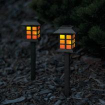 LED-es szolár lámpa lángokat imitáló 29 cm