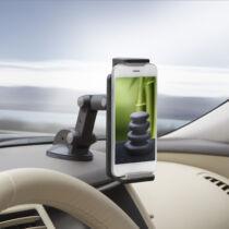 Univerzális autós tartó pratikus kábelnyílással