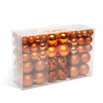 Karácsonyi bronz gömbdísz szett - 100 db / csomag