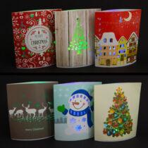3 darab LED asztali dekor karácsony - 15 x 16 cm - 2 féle