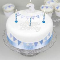 Gyertya + happy birthday tábla