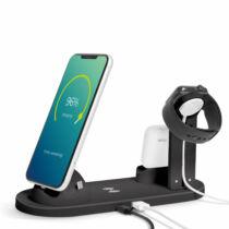 Vezeték nélküli töltőállomás - Mobiltelefonokhoz, órákhoz, fülhallgatókhoz