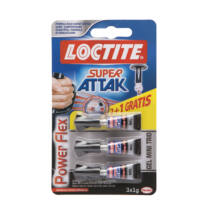 Loctite Super Attak Power Felx Mini Trió - Gél állagú pillanatragasztó - 3x1 g