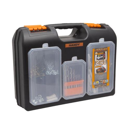 2 az 1-ben műanyag fúró + alkatrész tároló táska