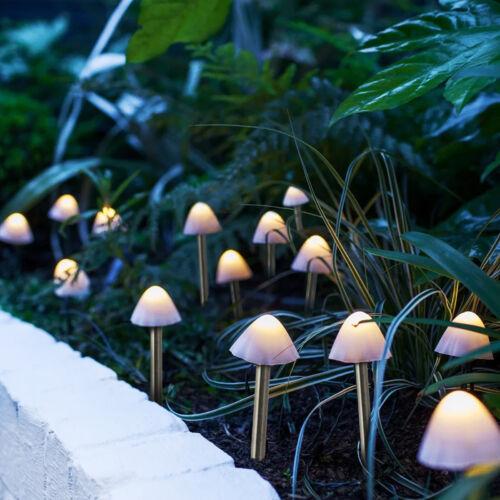 LED-es szolár lámpa - 12 db mini gomba - melegfehér - 24 cm x 4 m