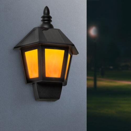 2 az 1-ben szolár fali lámpa, lánghatással, hidegfehér LED-del