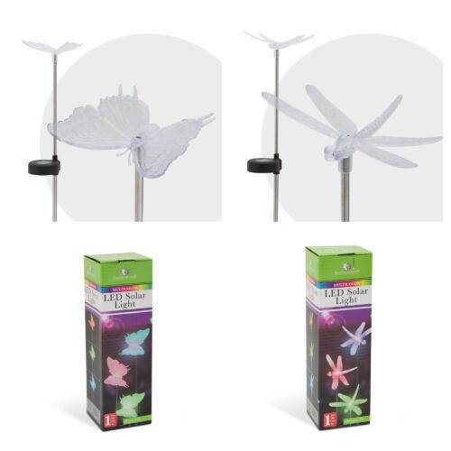 RGB LED-es szolár lámpa / pillangó vagy szitakötő