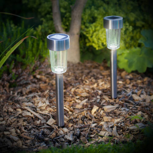 Led-es kültéri szolár lámpa fém