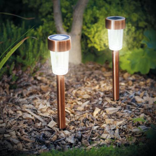 Led-es kültéri szolár lámpa fém, rozéarany