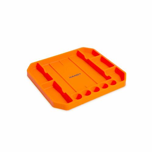 Gumi szerszámos tálca tárolórekeszekkel - vonalzóval - 26 x 23,5 x 2,5 cm