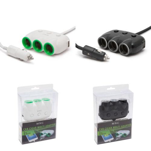 Szivargyújtó aljzatba csatlakoztatható 3-as elosztó + 2 x USB