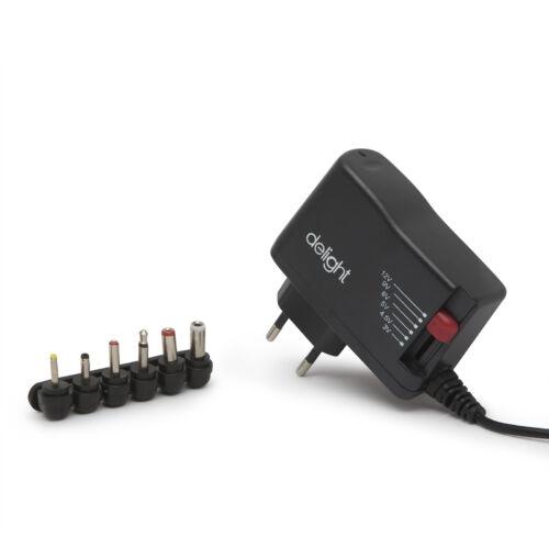 Univerzális adapter 3 - 12V 1.5A 18W 6 DC dugó