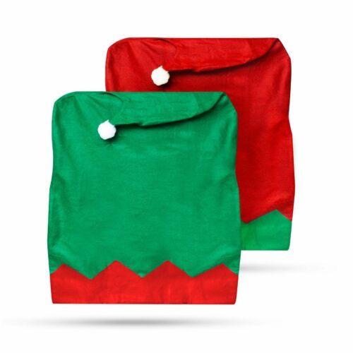 Székdekor - manósapka - piros / zöld 2 db / csomag