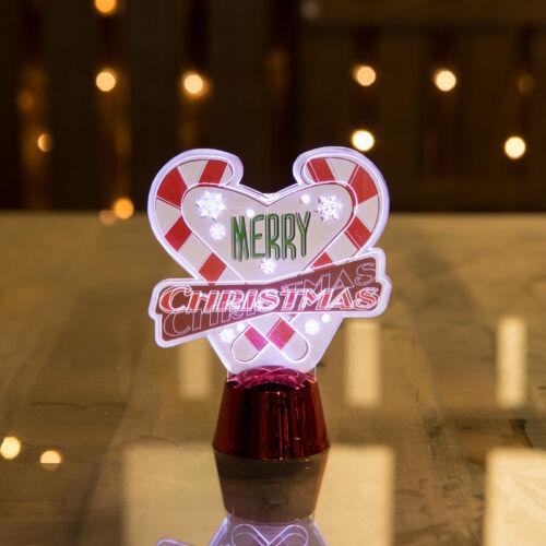 Karácsonyi asztali LED dekor - fényes talppal - szív - 11 cm