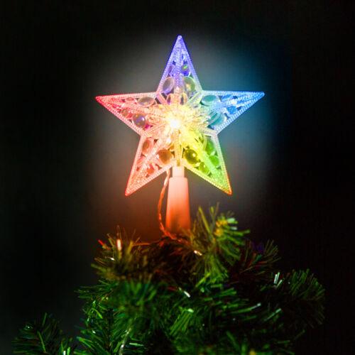 Karácsonyi LED-es csillag csúcsdísz - 10 LED - 15 cm - RGB